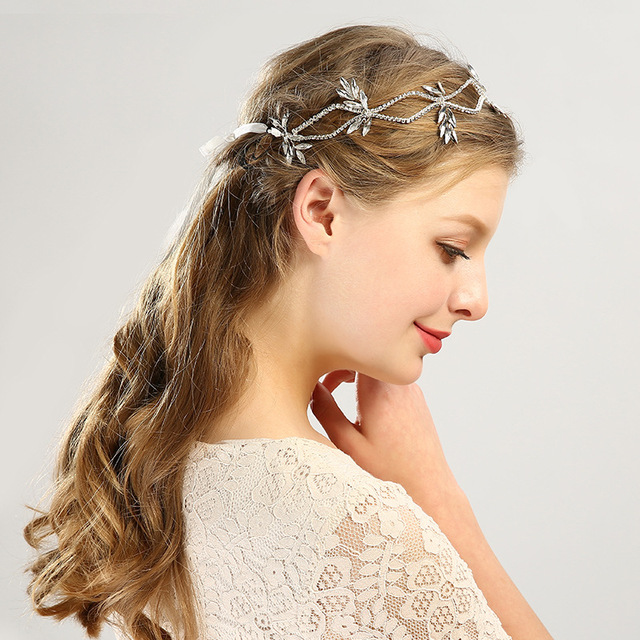 Wedding Dress Accessories.Fd105 New Hair Ornaments Silver Crystal Wedding Dress Accessories Banquets Brides Headbands Bride Ornaments In Hair Jewelry From Jewelry Accessories