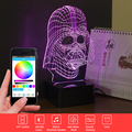 Novelty 3D Bulbing Light LED Star Wars Darth Music Nightlight for Baby Children Beside Lamp Touch Table Lamp with Remote Control