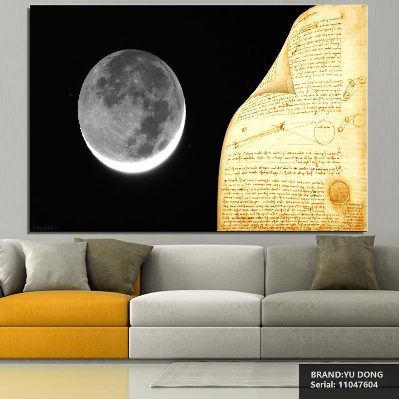 Awesome Moon Wall Decor Component - Wall Art Collections ...