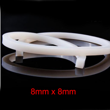 8mm x High temperature resistant door window white square solid silicone rubber sealing strip weatherstrip