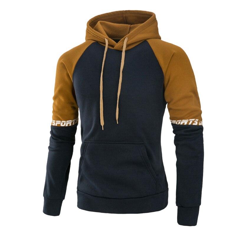 Brand 2019 hooded shirt brand men 39 s color matching sweatshirt men Hoody sports autumn and winter zipper hoodie men 39 s pullover in Hoodies amp Sweatshirts from Men 39 s Clothing