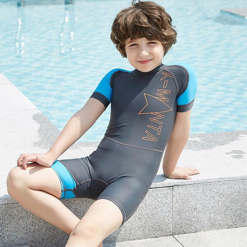 Toddler Baby Swimwear Rash Guard Costume Striped Sun Protective Beach Swimsuit