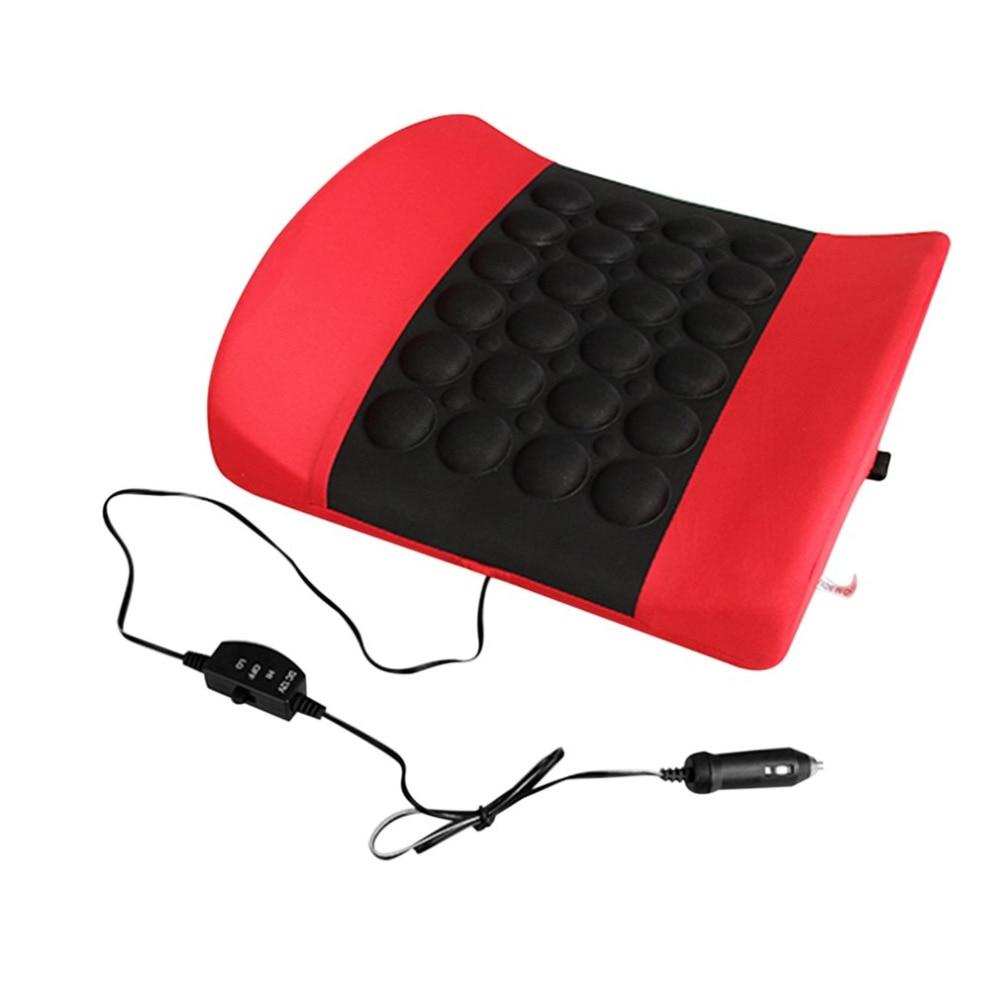 Electric Massage Soft Sponge Waist Support Pillow Bone Stimulate the Circulation of Blood Cushion Car Styling Massage Car Seat blood of the prodigal