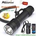 Alonefire DV21 XM-L2 СВЕТОДИОДНЫЕ Подводные diver Дайвинг Фонарик Факел свет Лампы + 26650 аккумуляторная батарея белый свет