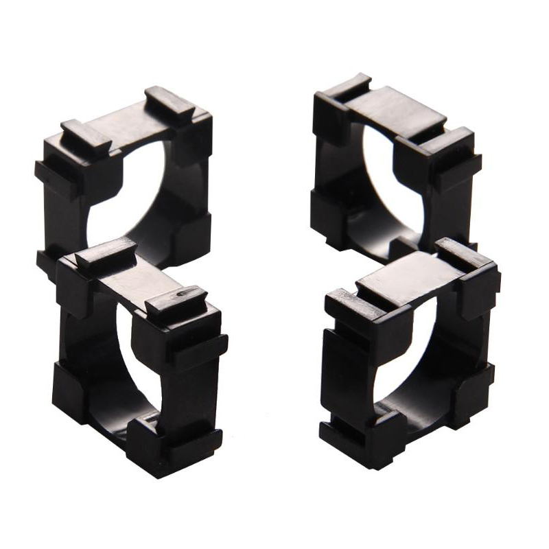 Single 18650 batteries Support holder Box 18650 lithium battery connector single hole 1P combination assembly connection bracket in Battery Storage Boxes from Consumer Electronics