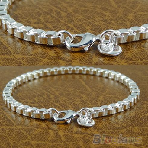 Plated Charms Chain Silver...