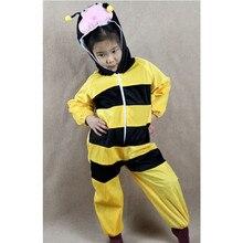 Halloween Cartoon Animal Bee Jumpsuit Children Kids Boys Girls Animals Cosplay Costumes Clothing