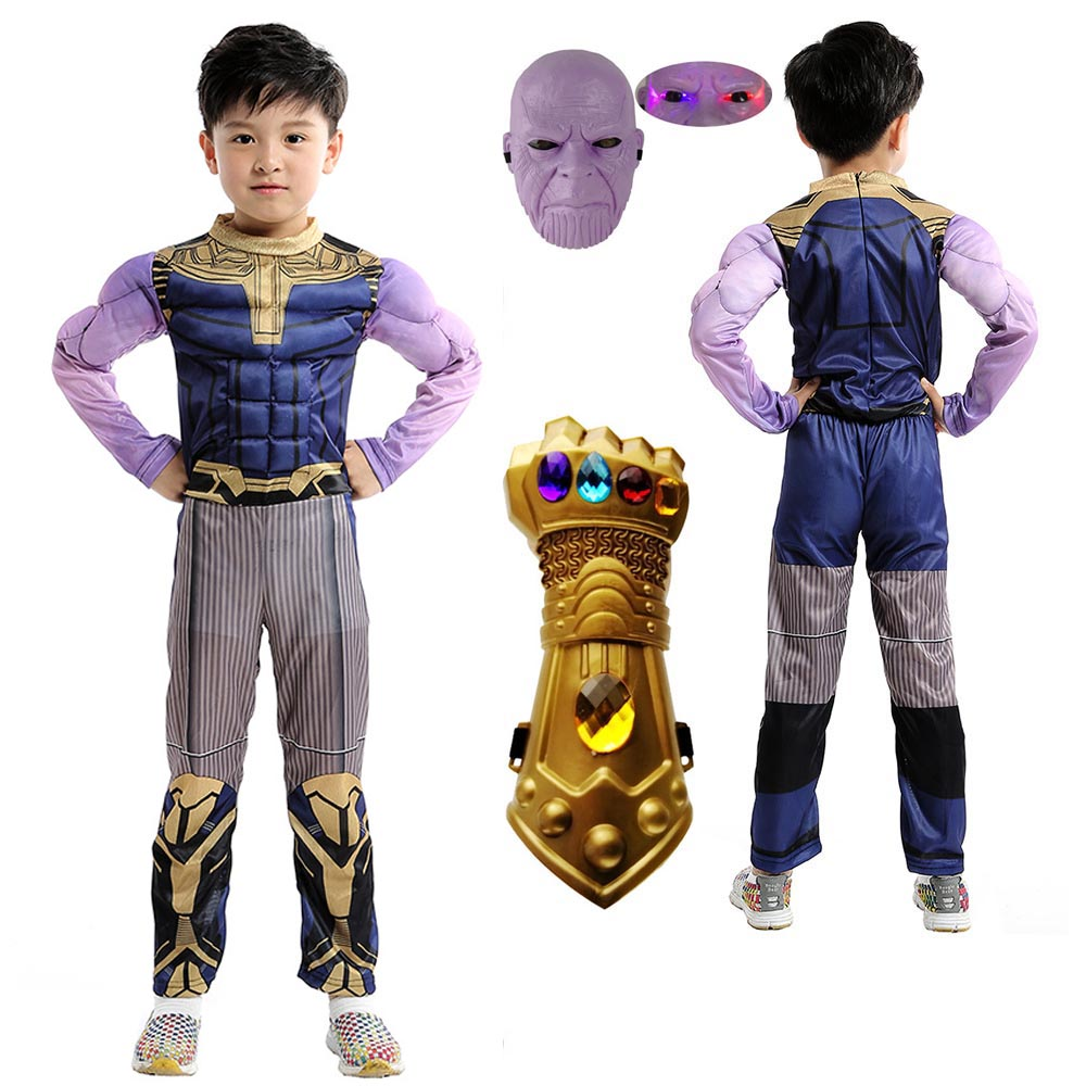 Avengers Thanos Cosplay Costume demon adult children Jumpsuits mask