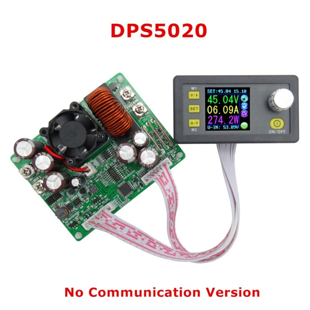 DPS5020 Constant Voltage Current Step-Down Communication Digital Power Supply Buck Voltage Converter LCD Voltmeter 50V 20A constant digital voltage current meter step down dp50v2a voltage regulator supply module buck color lcd display converter