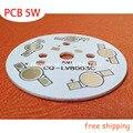10 unids/lote, 5 W LED PCB 49mm para 5 unids LED placa base de aluminio aluminio PCB Placas de Circuito Impreso de alta potencia 5 W LED DIY PCB