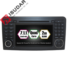 Android 7.1 2 Din 7 Inch Car DVD Player For Mercedes/Benz/GL ML CLASS W164 X164 ML350 ML450 ML500 GL320 RAM 2G WIFI GPS Radio