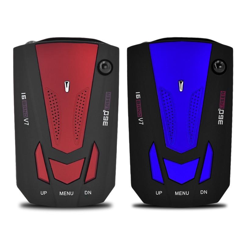 V7 Car Radar Detector 360 Degree 16 Band Scanning LED Display Auto Detectors English Russian Voice Alert Warning