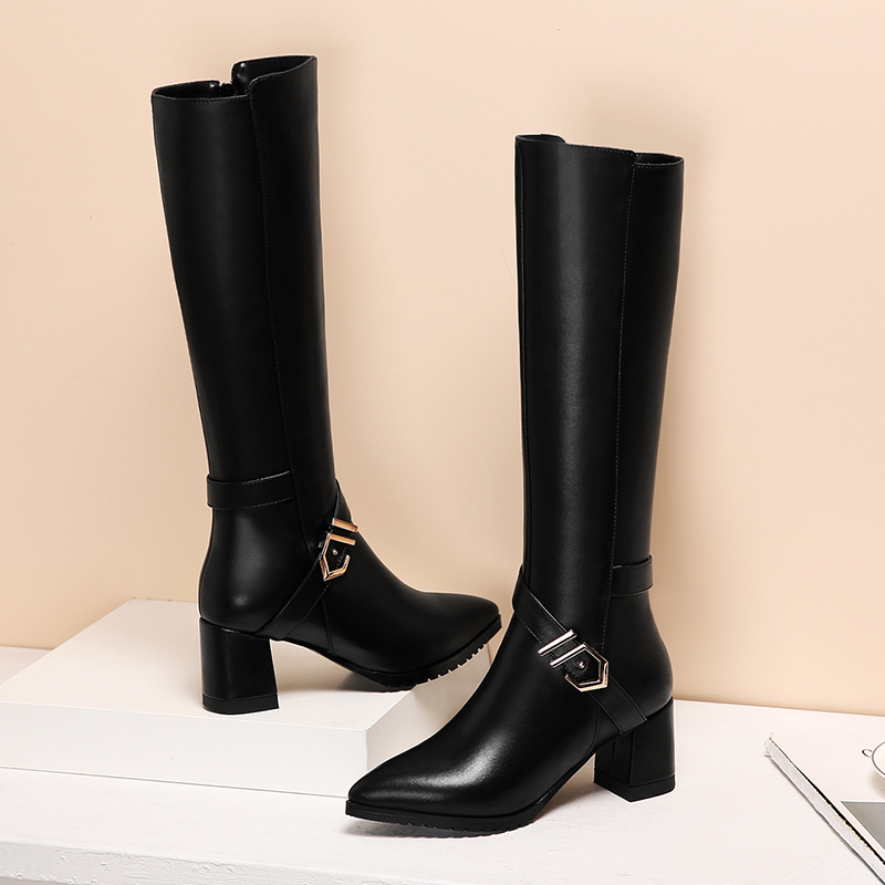 Chaussures femme neige chaussures plates manche chaussures courtes chaussures peluche chaussures rondes - 3