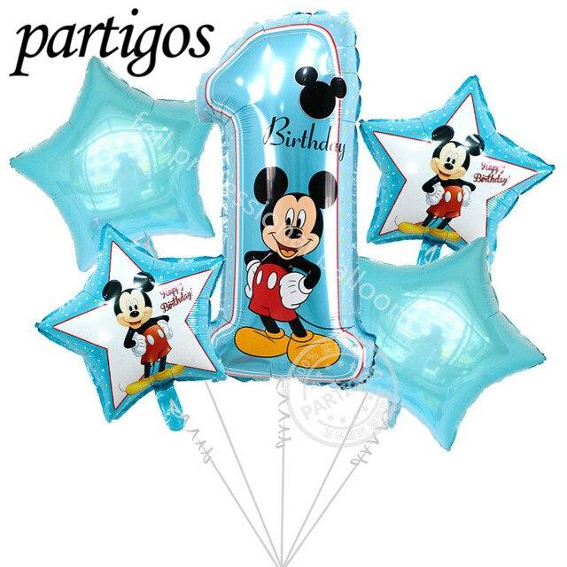 5 Stks Gelukkige Verjaardag Decoratie Ballon Mickey Minnie Mouse 18