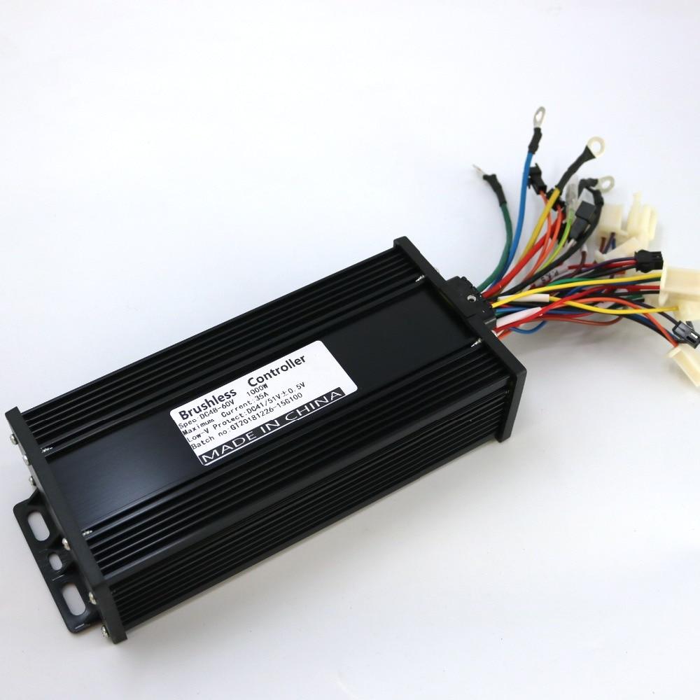 GREENTIME Black Shell  15 Mosfets48/ 60V 800W/1000W Dual Mode Sensor/Sensorless Brushless DC Motor Controller