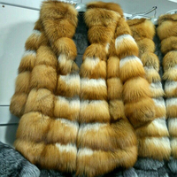 Real Fur Fox Fur Coat Women Length 90cm Natural Fur Coats Fox Fur Jackets