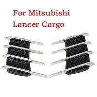Tự động Mang Cá Mập Outlet Dán Mô Phỏng Vent Giả Fender Outlet Side Trang Trí Sửa Đổi Cho Mitsubishi Lancer Cargo