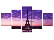 5 piece Scenic Tower Series Canvas Painting Wall Art Home Decor Poster Print unframe or framed/XC-city-13