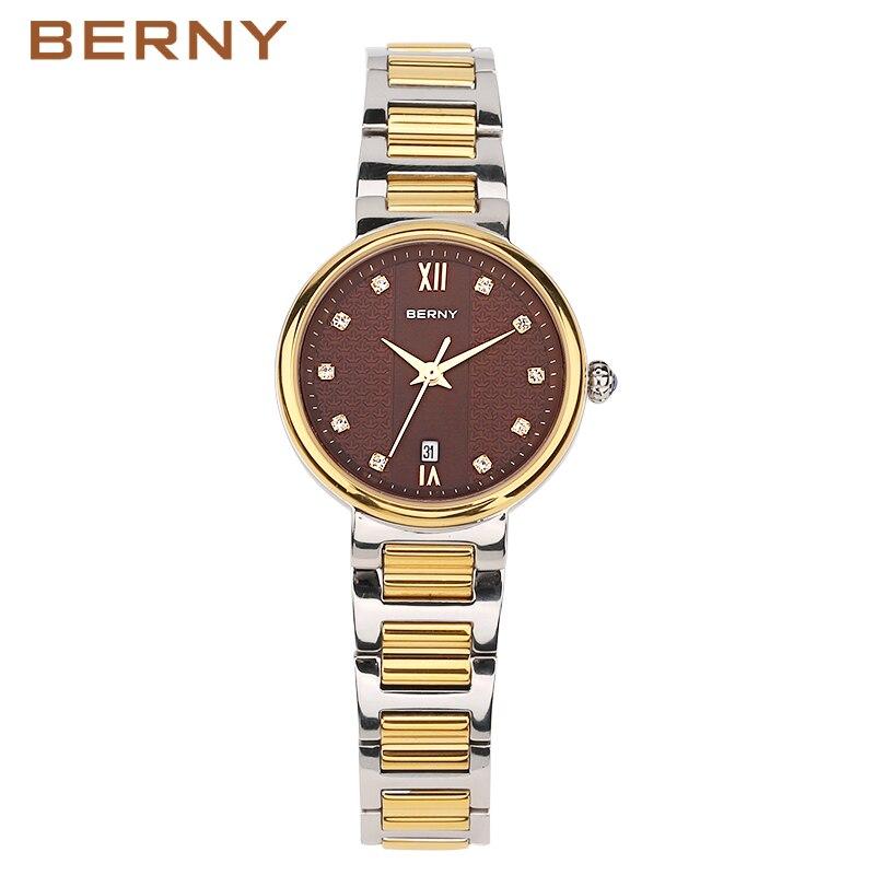BERNY Quartz Lady Watch Women's Watches Gold Fashion Clock montre femme relogio feminino reloj mujer kol saati Japan Movement