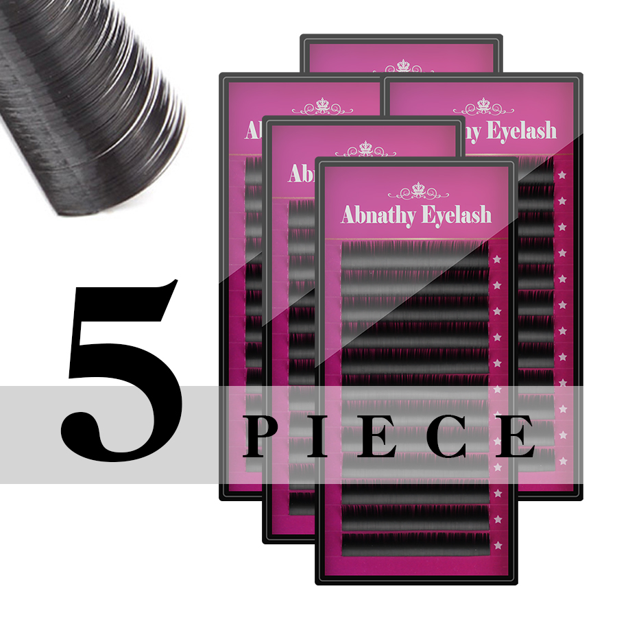 Tesoura de Maquiagem 5 casos definidos, abnathy mink Material dos Cílios Falsos : Cabelo Sintético