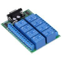 1 sztuk 8 kanałowy moduł przekaźnikowy DB9 RS 232 Moduł Przekaźnikowy Przełącznik Zdalnego Sterowania Inteligentny Dom zasilania sterowania przemysłowego