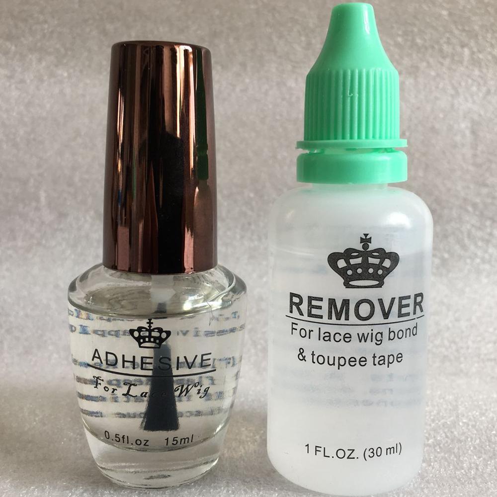 Glue remover kit 0.5 Oz 15 ml lace wig glue bond transparent adhesive glue for full lace wig  men's toupee