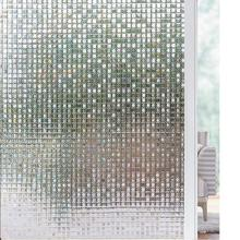 Funlife 90x200cm 3D Window Film Mosaic Privacy Decor Self-adhesive Static Cling Glass No Glue Anti-UV Sticker