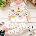 La ropa del bebé nuevo Oso lindo bebé ropa de las muchachas de manga larga t-shirt + pants 2 unids ropa traje de algodón de los bebés recién nacido conjunto