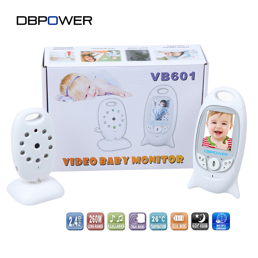 dbpower 2 0 color lcd video wireless baby monitor 2 way. Black Bedroom Furniture Sets. Home Design Ideas
