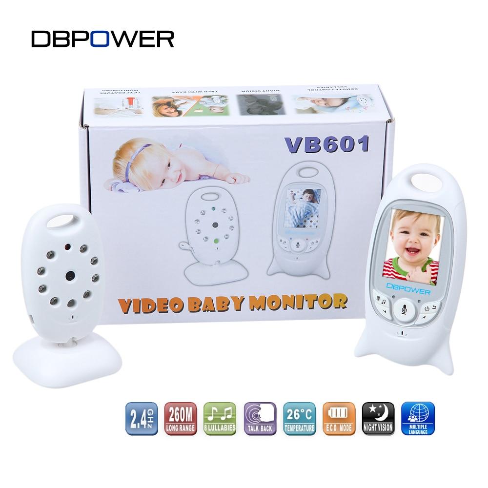 """bilder für DBPOWER 2,0 """"farbe LCD Video Wireless Baby Monitor 2 2-wege-gespräch Nachtsicht IR Kindermädchen Babyfoon Baby Kamera mit Musik Temperatur"""