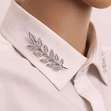 Vàng Bạc Nam Lá của Phù Hợp Với Trâm Cài Pins Áo Cổ Áo Brooch Men Suit Brosh Hijab Lapel Pin Broches Phụ Nữ Jewelry quà tặng