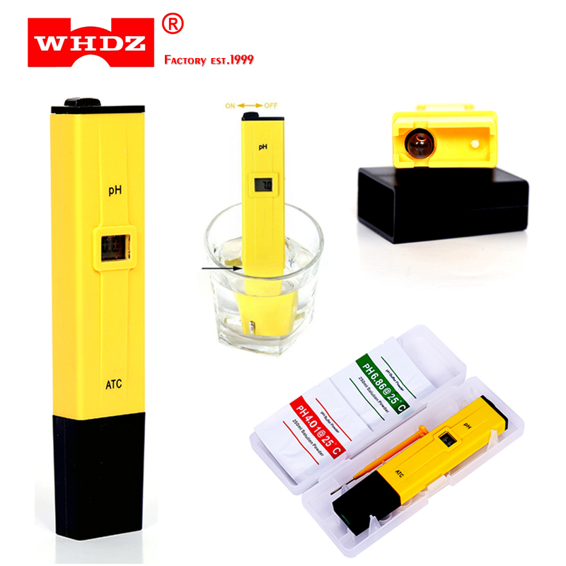 Portable Digital PH Meter Tester Medidor PH 0.0-14.0 PH High Accuracy for Drink Food Lab PH Monitor ATC Pocket Pen Type Analyzer fast arrival ph 981 pen type ph meter 0 00 14 00 resolution 0 01 accuracy 0 05 1 point calibration atc