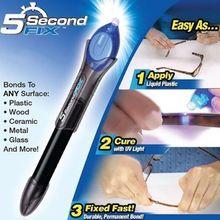 цена на 2019 Hot Quick-drying Laser Glue Home Powered Liquid Plastic Welding 5 Second Fix UV Light Repair Tool With Glue