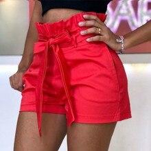 Sexy Streetweat Plus Size Shorts Sexy Ruffles High Waist Shorts Women Beach Bow Pockets Wide Leg Shorts Casual Short Pant Solid