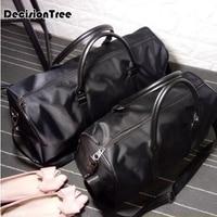 Large Capacity Waterproof Travel Bag for Women Handbag Vintage Mens PU Leather Travel Duffle Bags Weekend Bag