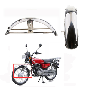 Image 3 - 1 Pcs Stainless Steel Motorcycle Front Fender Flares Mud Flaps Mudguard Splash Guard For Honda CG125 Motorcycle Accessories