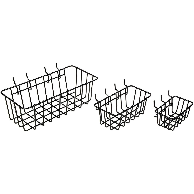 YHYS Wrought iron tool storage basket family storage metal basket Pegboard Basket Set of 3
