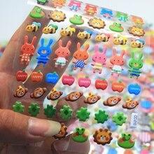 1Sheet Cute little animal Diary Decoration Kids Stickers 3D PET Korean version of the bubble