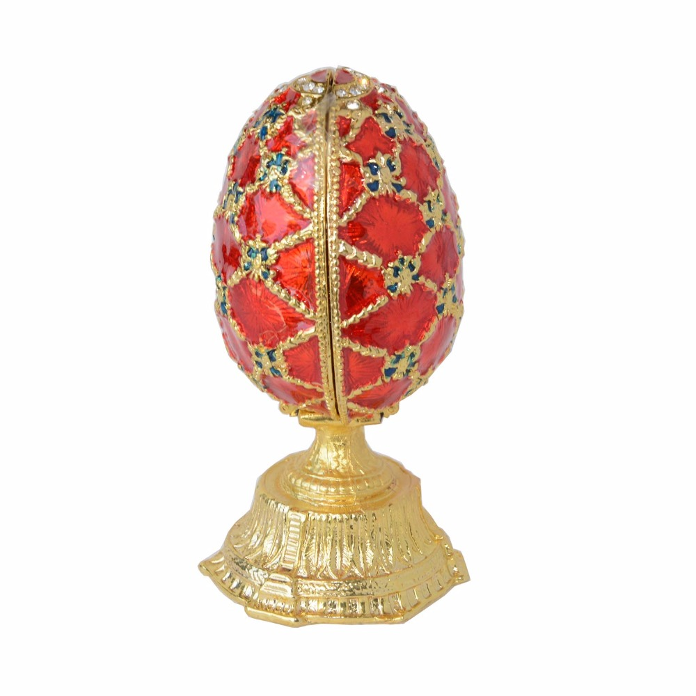 Faberge red russian egg jewelry ring box trinket box easter egg faberge red russian egg jewelry ring box trinket box easter egg collectible gifts treasure box craft wedding jewelry display in jewelry packaging display negle Images