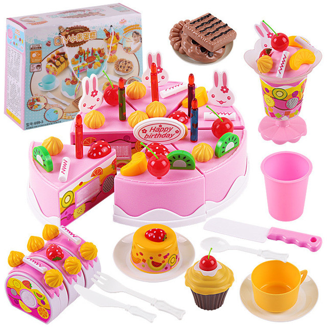 75pcsBirthday Cake DIY Model Children Early Educational Classic Toy