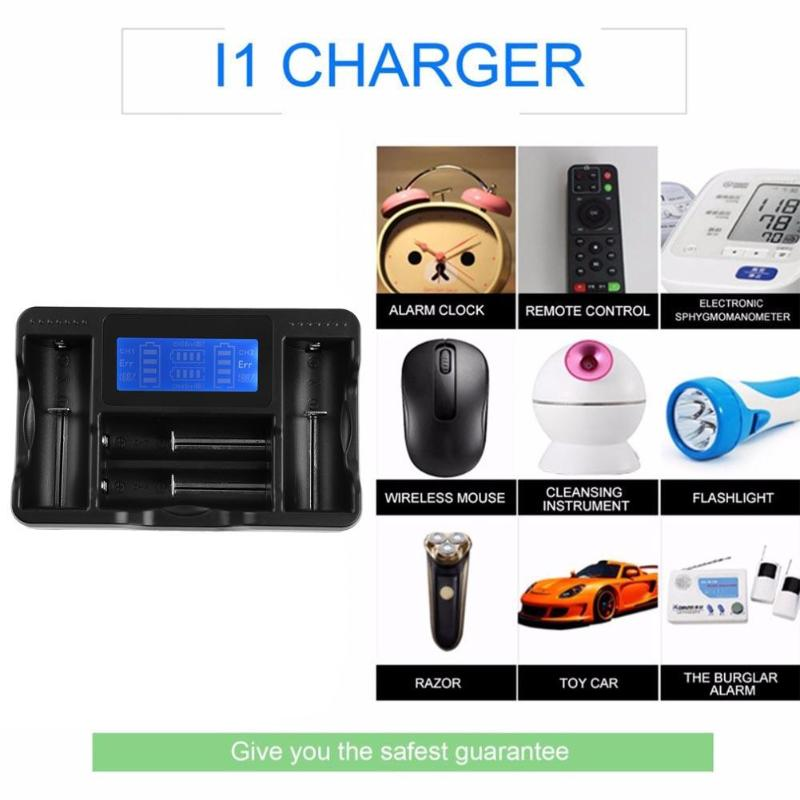 Universal Smart LCD Display Battery Fast Charging USB Input Battery Charger for Li-ion Ni-MH/Ni-Cd Rechargeable Battery