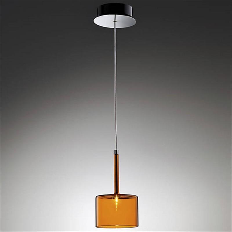 Spillray Large Pendant Lights Transparent Orange Glass