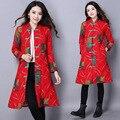 Ukraine Rushed Long Solid No Single Breasted Full Wholesale Shot 2016 New Winter Folk Style, Lengthen Cotton Padded Jacket Coat