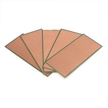 5 Pcs 6 5x14 5cm Stripboard Veroboard Uncut PCB Platine Single Side Circuit Board