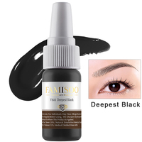 FAMISOO Black Permanent Makeup Tattoo Inks Optional Pigment 15ml for Tattoo Eyebrow Eyeliner Make up color Art Tattoo Supplies
