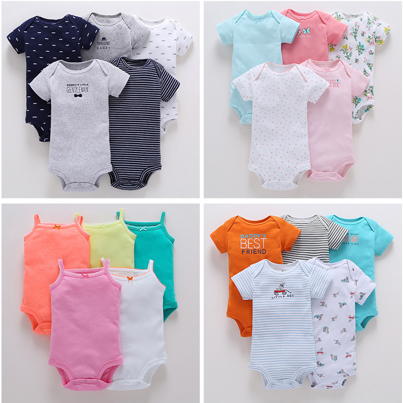 2018 Bodysuit Set / 5 Pcs Per Lot / Carter's Design / Summer Infant Baby Outfits