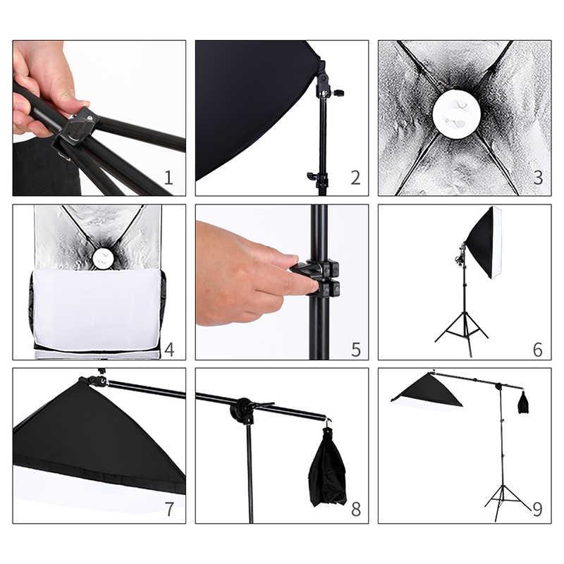 Зеленый экран нетканый фон Подставка Набор 20 ватт светодиодный светильник для волос Boom Stand Studio Фото Видео светильник ing Kit