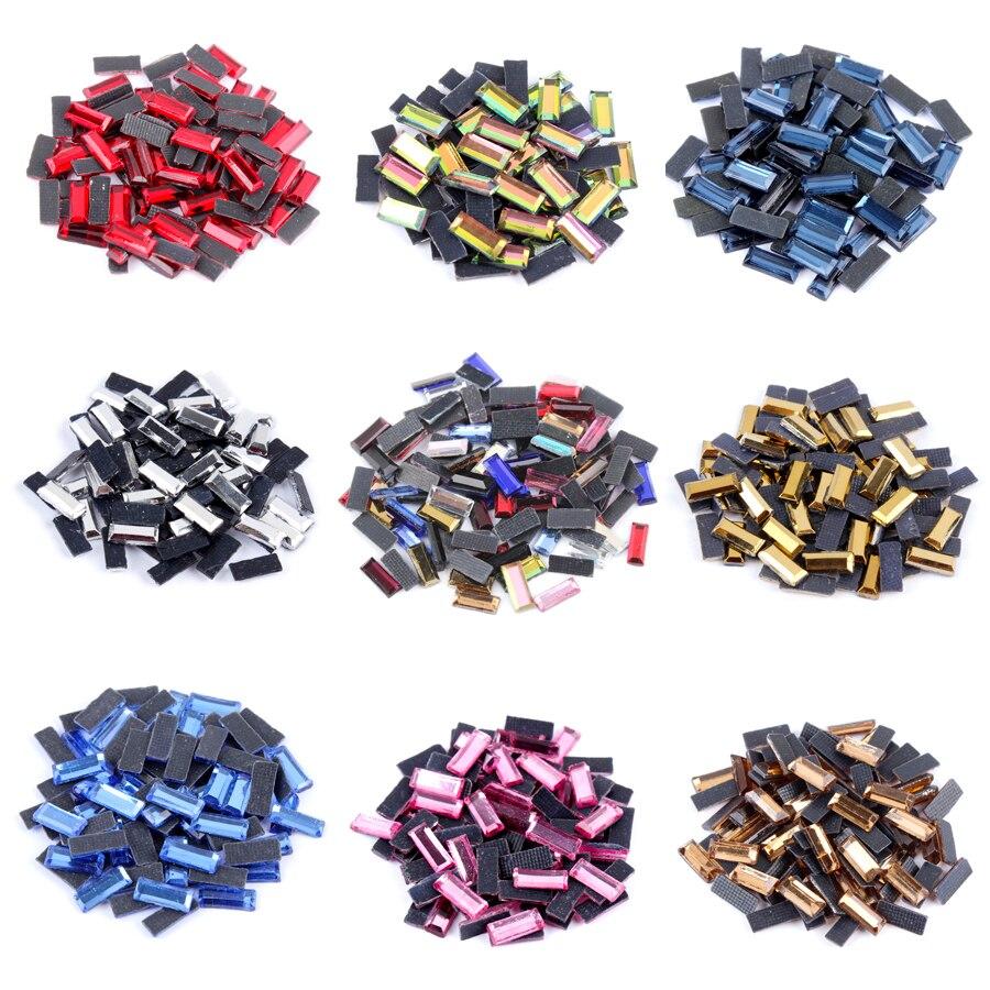 Hotfix Stone Strip Shape 3x7MM 300pcs/lot Mine Gold Hotfix