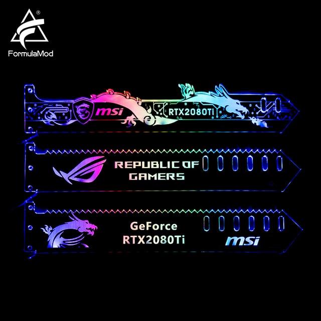 FormulaMod Fm QJD, RGB GPU בלוק אקריליק סוגריים, דקורטיבי צלחות GPU מחזיק, 5 v 3Pin RGB Synchronizable האם תאורה
