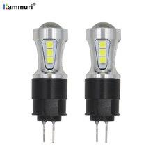 No error White 18smd hp24w G4 12v led drl light for Citroen c5 peugeot 3008 Daytime Running Day Light Amber Turn Signal